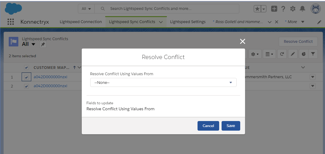 Resolve sync conflicts easily